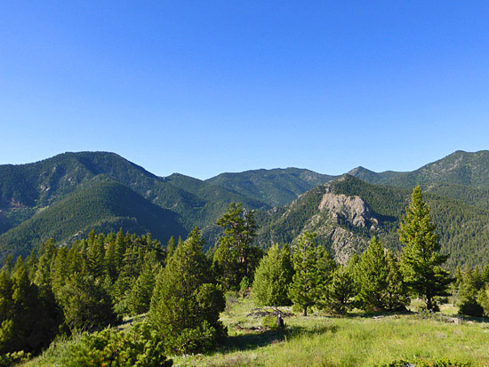 High meadows with great views in upper Eldorado Canyon